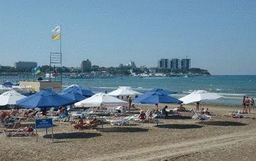 Пляж - Санаторий Спутник  в Анапе