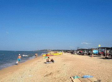 Пляж базы отдыха в Пересыпи