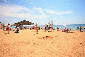 Пляж санатория Победа в Евпатории