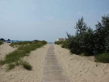 Пляж пансионата София в Анапе