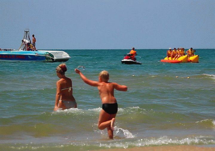 Фото пляж санаторий родник анапа