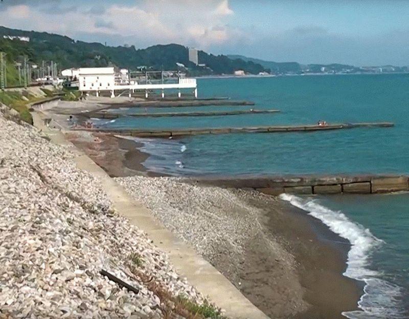 Пляж Спутник в Сочи