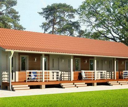 Строительство домиков и комнат для отдыхающих