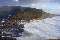 Пляж Сукко в шторм