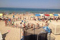 Пляж санатория Родник в Анапе
