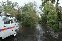 Последствия шторма в Анапе