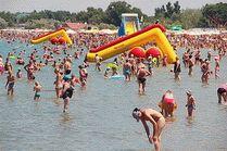Центральный пляж в городе-курорте Анапа