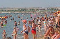Центральный пляж курорта Анапа