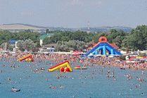 Центральный пляж на курорте Анапа
