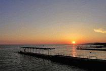 Закат на пляже в Дивноморском