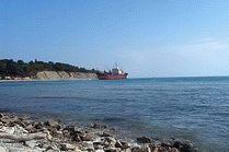 Каменистый пляж Голубая бухта