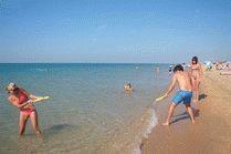 Пляж в Благовещенской