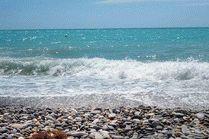 Галечный пляж в Лазаревском