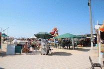 Центральный пляж станицы Голубицкая