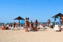 Центральный пляж в Голубицкой