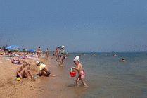 Пляж в Керчи