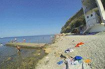 Каменистые пляжи на Высоком берегу в Анапе