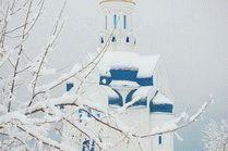 Державный храм в Анапе зимой