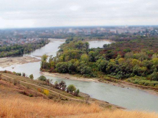 В низовьях реки давольно большие