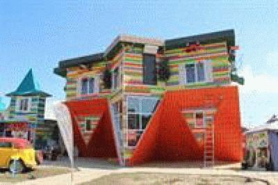 «Дом-перевертыш» в Голубицкой