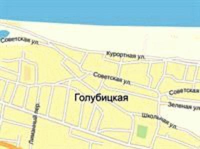 Карта Голубицкой с улицами