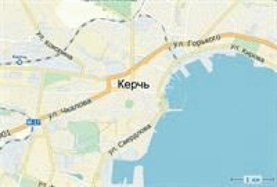 Карта Керчи