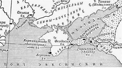 Карта Причерноморья
