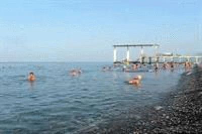 Пляж Огонек в Адлере