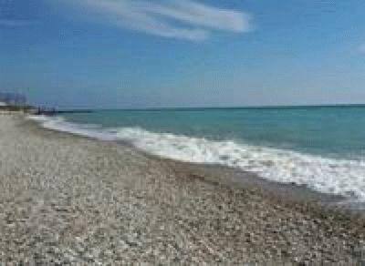 Пляж курортного Шепси