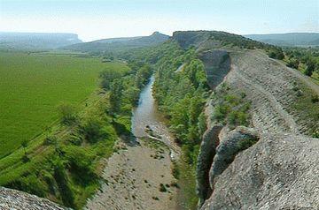 Река Бельбек в Крыму