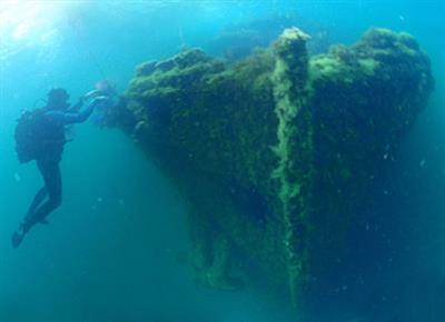 Затонувший корабль «Одесский горсовет»