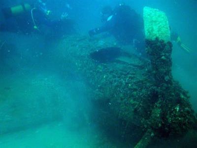 Затонувший советский штурмовик ИЛ-2