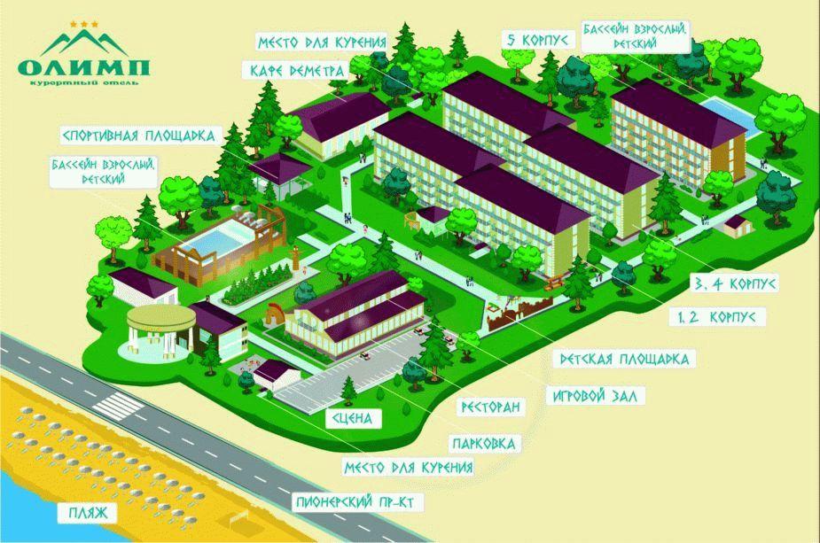 Карта отеля Олимп