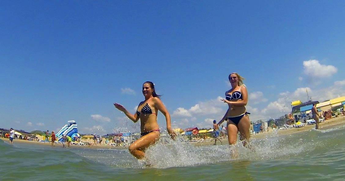 Видео пляжа в Анапе