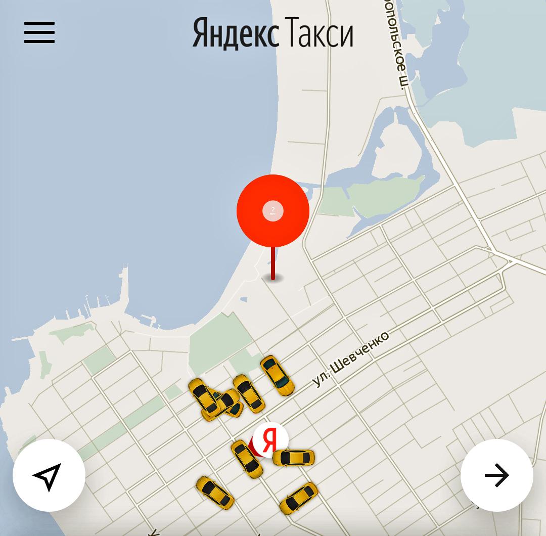 Приложение Яндекс Такси в Анапе