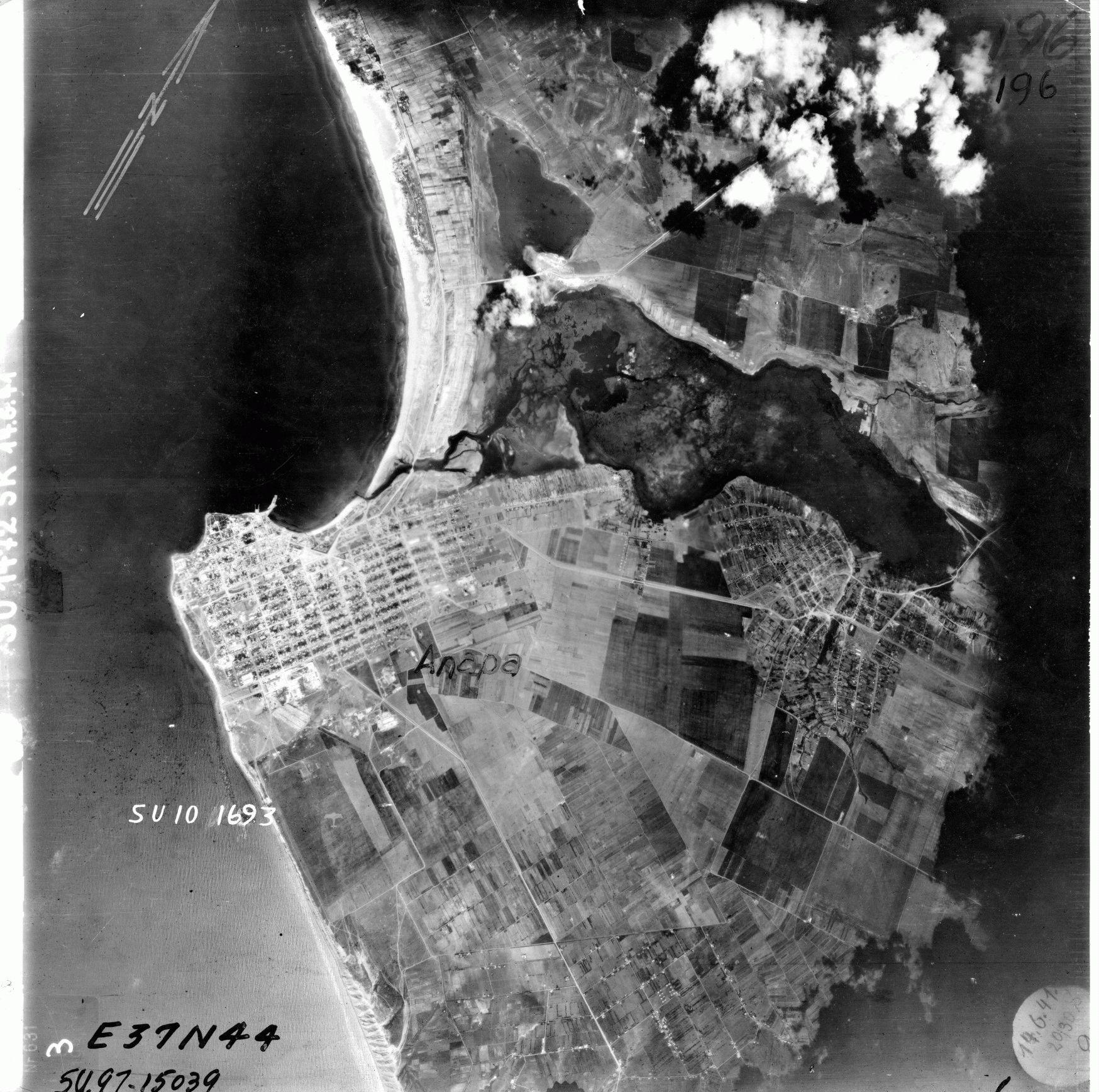Анапа - фото с немецкого самолета в войну