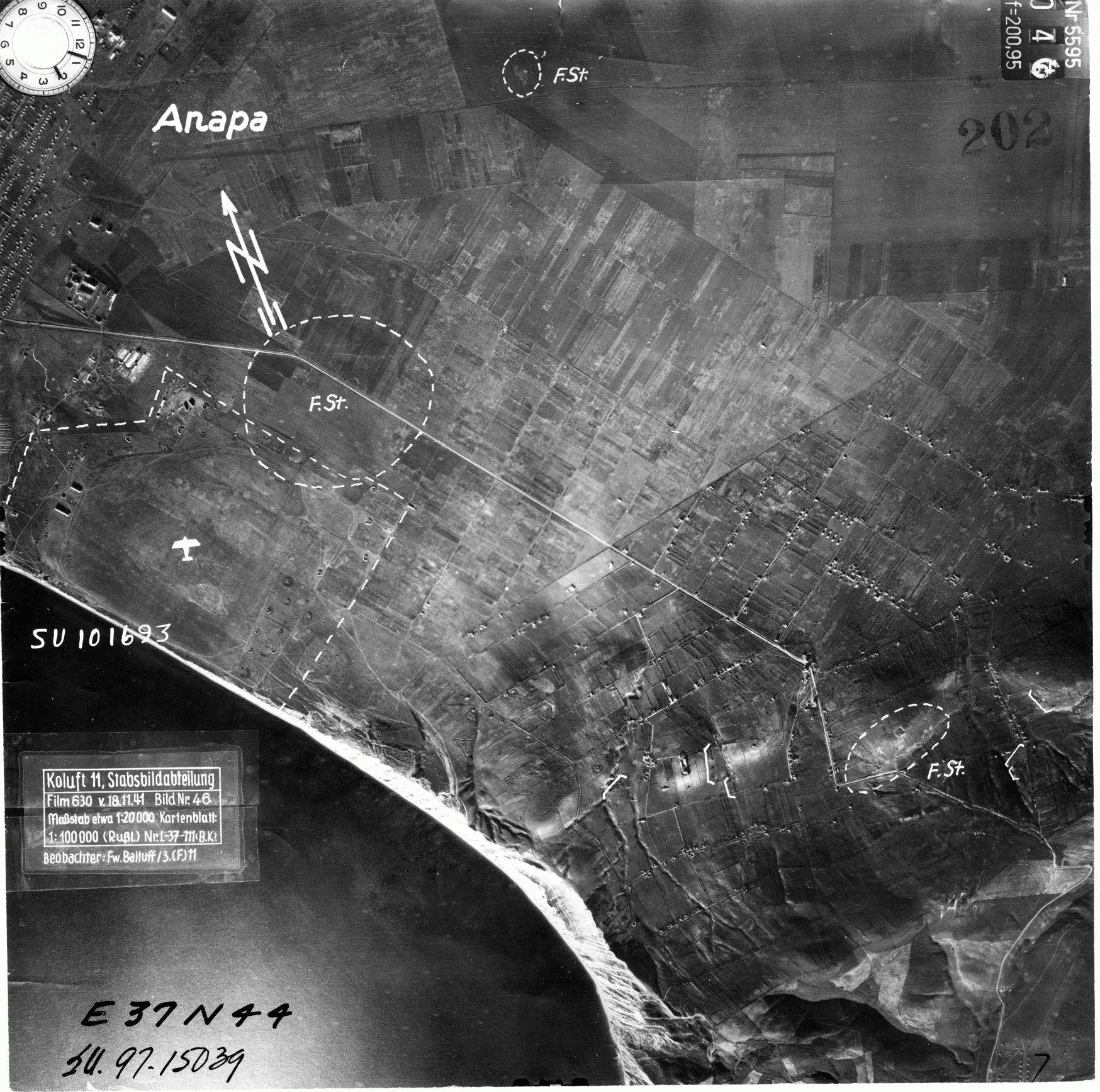 Фото Анапы в войну с воздуха