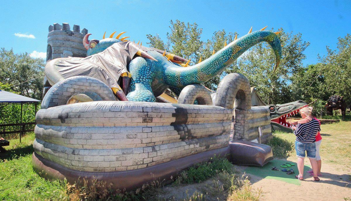 Развлечения в парке динозавров