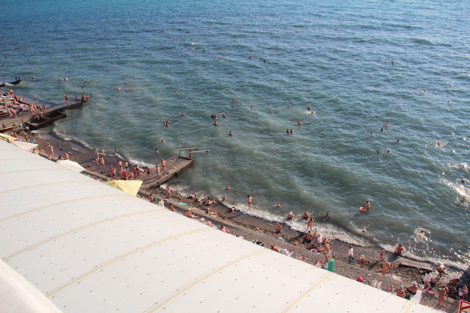 Пляж санатория Малая бухта