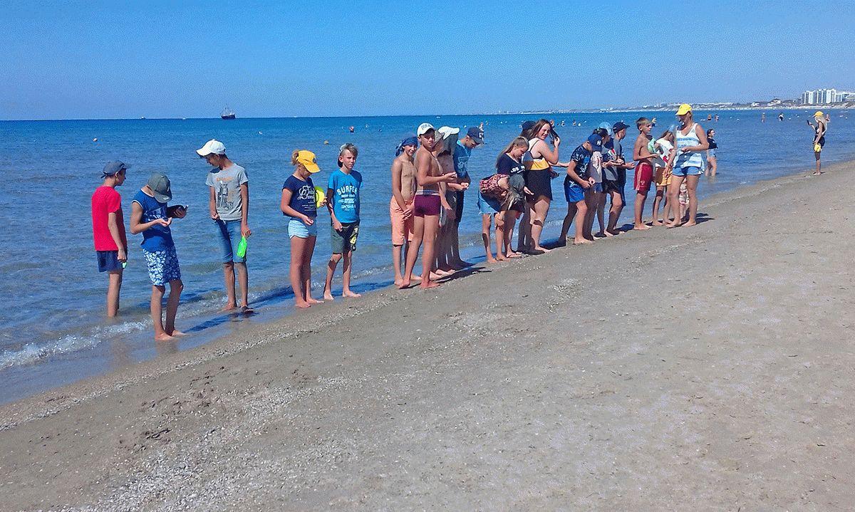 Пляж в Анапе в сентябре
