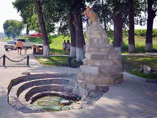 Эконом памятник Волна в камне Родники Ваза. Габбро-диабаз Подпорожье