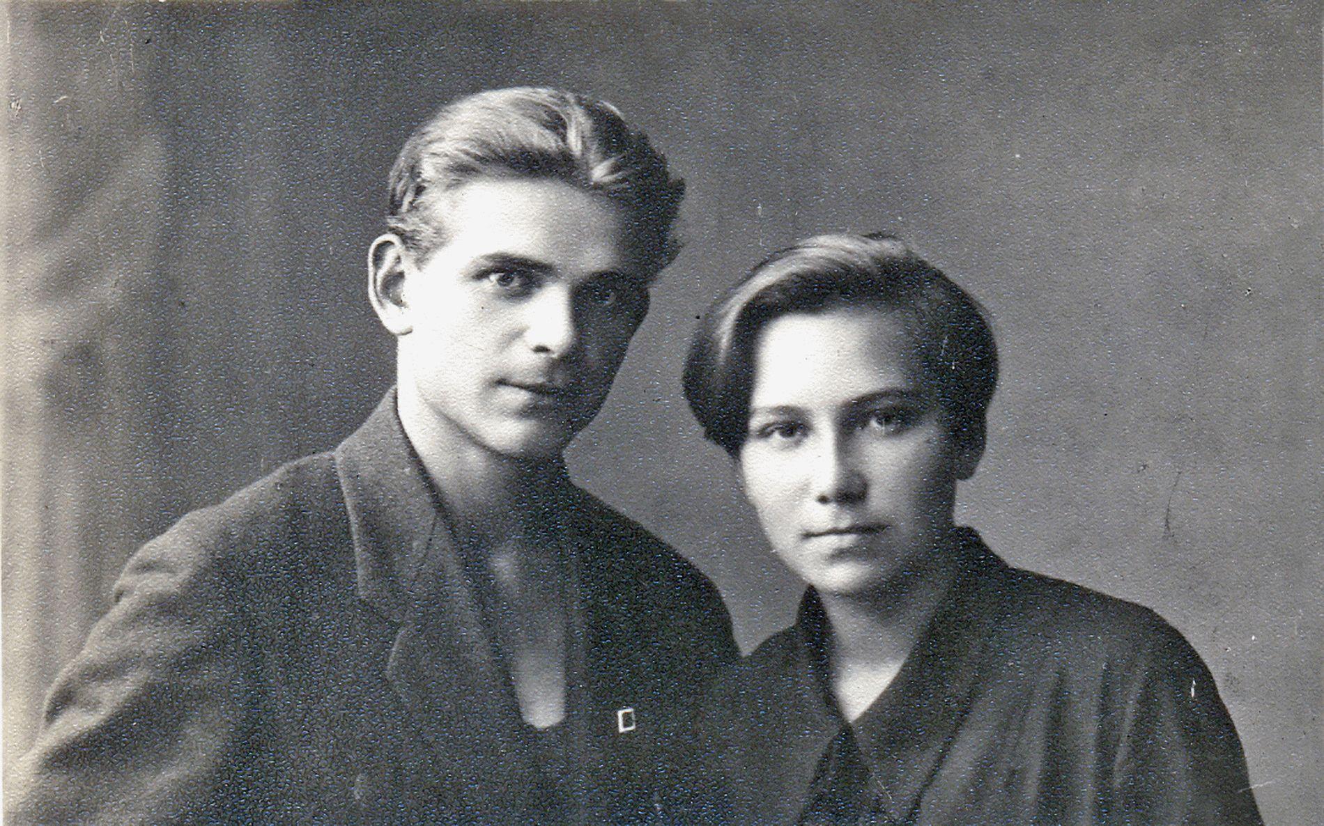 Дмитрий Калинин с женой Нонной, 1931 г.