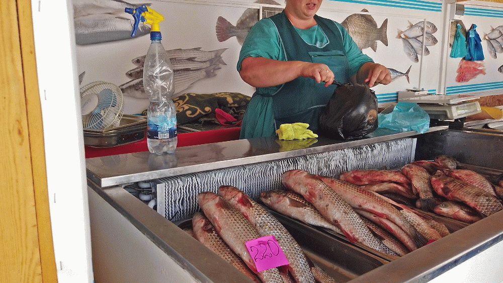 Рыба на Фермерском рынке