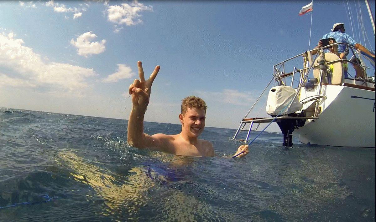 Чистая вода в открытом море
