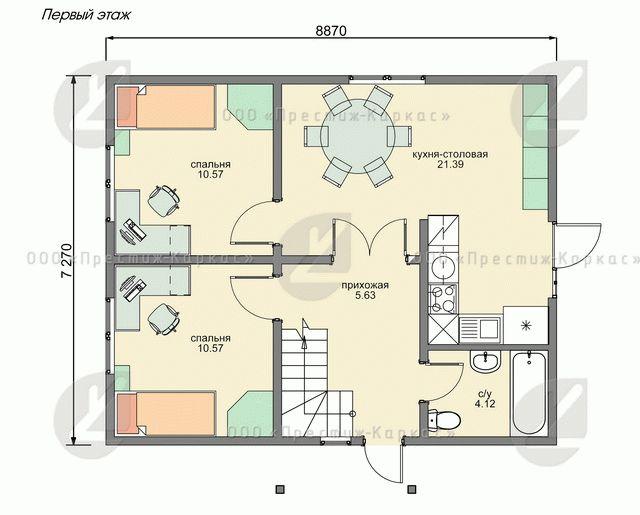 Проект дома из мини-бруса