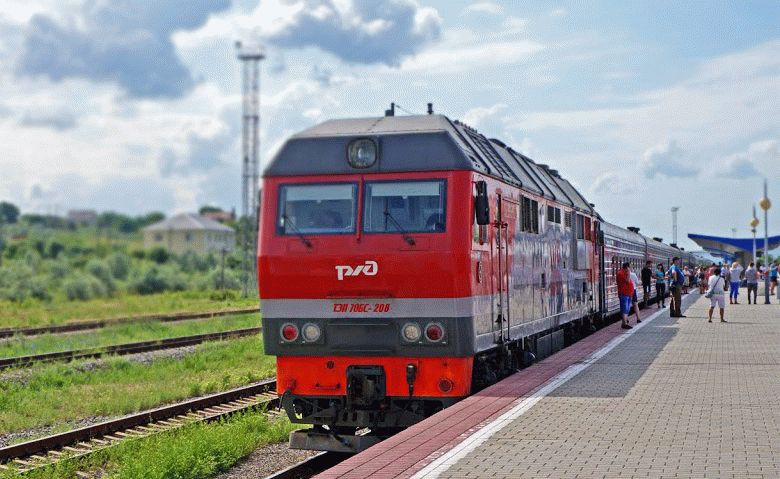 В Анапу поездом