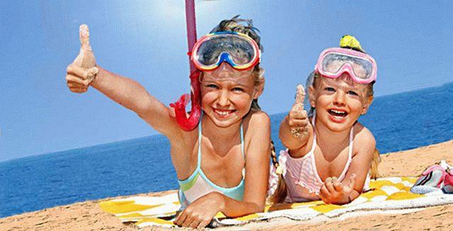 Мелководный детский пляж