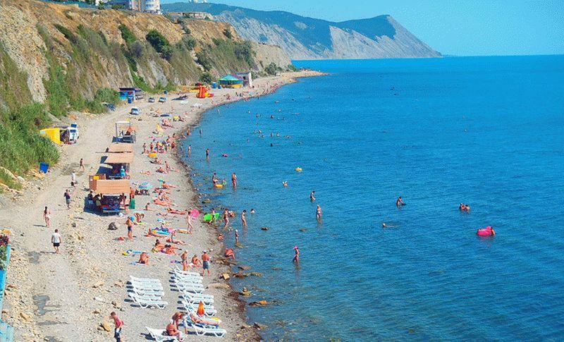 Каменистые и галечные пляжи курорта