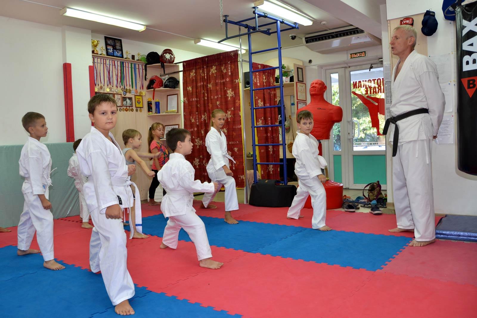Занятия по каратэ в Анапе