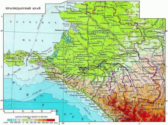 Скачать карту Краснодарского края
